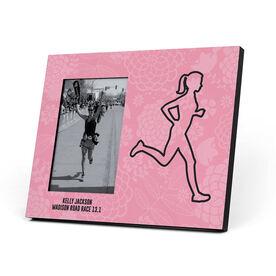 Running Photo Frame - Floral Runner Girl