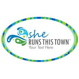 Running Car Magnet - She Runs This Town Logo