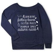 Running Fleece Wide Neck Sweatshirt - Awesome Autumn