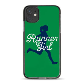 Running iPhone® Case - Runner Girl With Silhouette