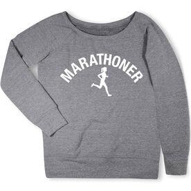 Running Fleece Wide Neck Sweatshirt - Marathoner Girl