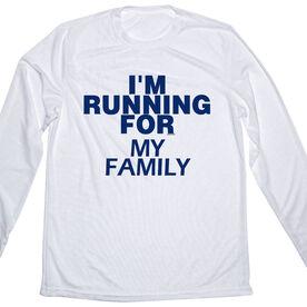 Men's Running Customized Long Sleeve Tech Tee I'm Running For