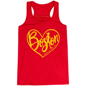 Flowy Racerback Tank Top - Love The Run Boston 26.2