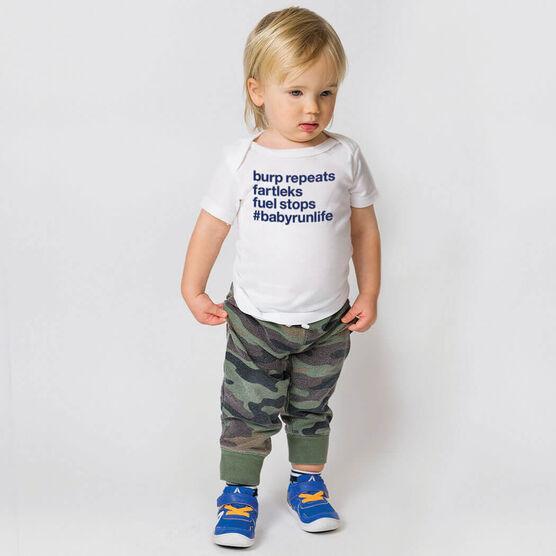 Running Baby T-Shirt - Burp Repeats Fartleks Fuel Stops