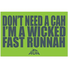 Wicked Fast Runnah Rectangle Car Magnet