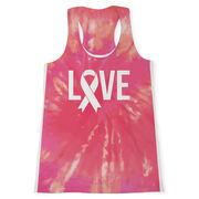 Women's Performance Tank Top - Love Tie-Dye