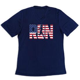 Women's Short Sleeve Tech Tee - Run Girl USA