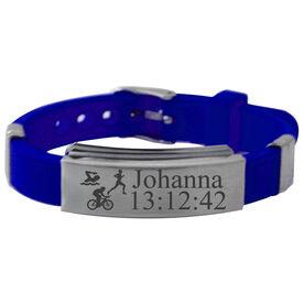 Personalized Triathlete Silicone Bracelet
