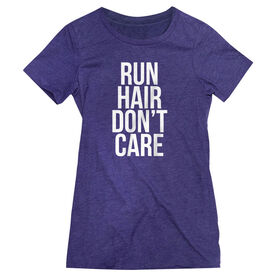Women's Everyday Runners Tee - Run Hair Don't Care