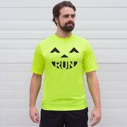 Men's Running Short Sleeve Tech Tee - Pumpkin Run