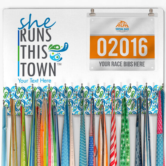 SRTT Large Hooked on Medals and Bib Hanger - She Runs This Town