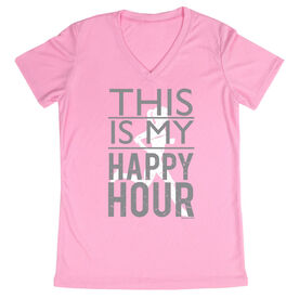 Women's Running Short Sleeve Tech Tee This Is My Happy Hour
