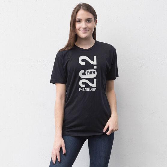 Running Short Sleeve T-Shirt - Philadelphia 26.2 Vertical