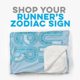 Click to Shop all Running Zodiac Sherpa Fleece Blankets