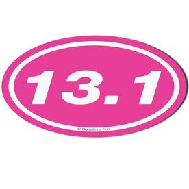 13.1 Half Marathon Car Magnet - Pink