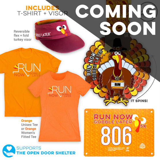 Virtual Race - Run Now Gobble Later™ 5K (2019) - DELUXE