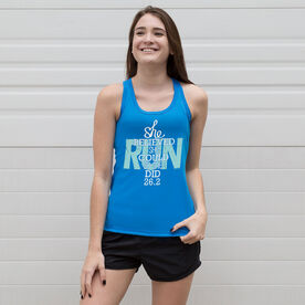 Women's Performance Tank Top She Believed She Could So She Did 26.2