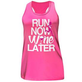 Women's Performance Tank Top Run Now Wine Later (Bold)