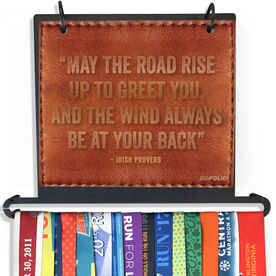 BibFOLIO Plus Race Bib and Medal Display - May The Road Rise Up To Greet You Quote Executive