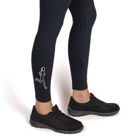 Running Leggings - Female Runner Outline