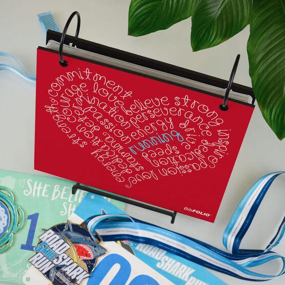 BibFOLIO® Race Bib Album - Running Inspiration Heart