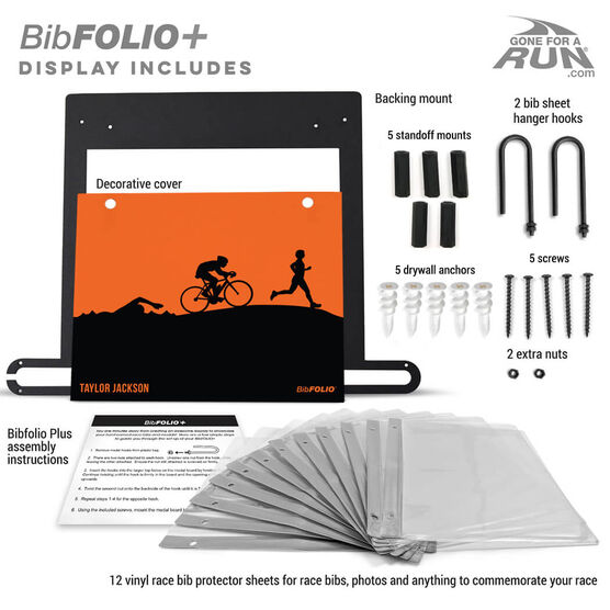 BibFOLIO+™ Race Bib and Medal Display Triathlon