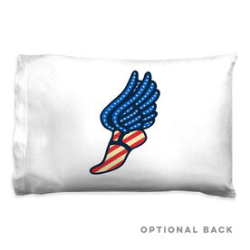 Track & Field Pillowcase - USA Winged Foot