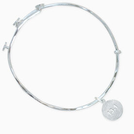 Livia Collection Sterling Silver Matte 13.1 Adjustable Bangle