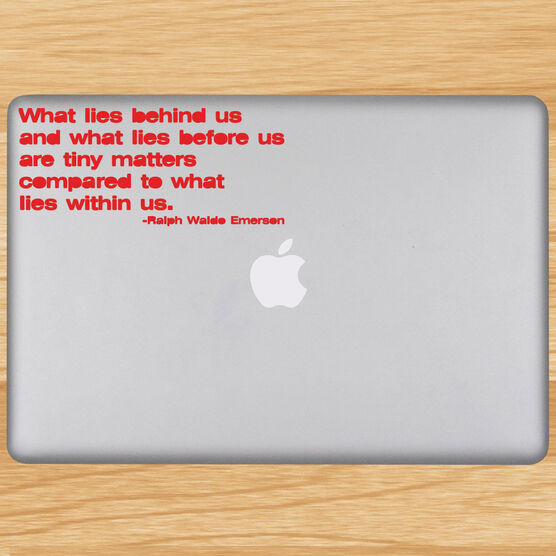 What Lies Behind Us Removable GoneForaRunGraphix Laptop Decal