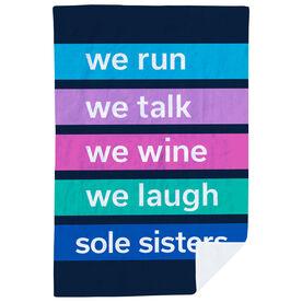 Running Premium Blanket - Sole Sisters Mantra