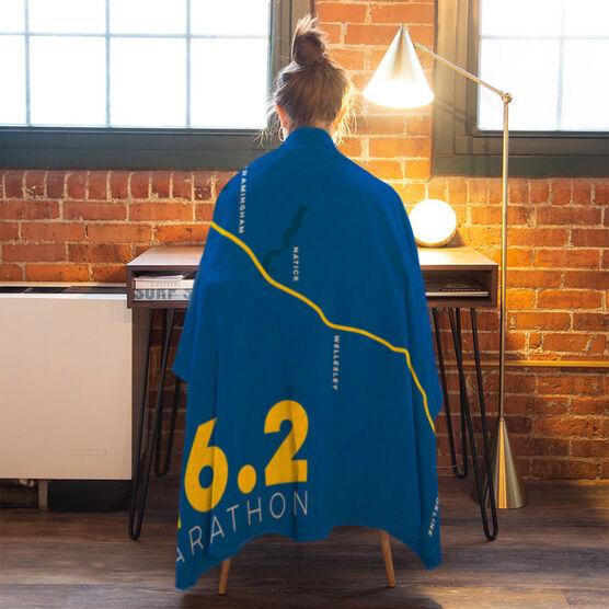 Running Premium Blanket - Personalized Boston Map
