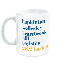 Running Coffee Mug - 26.2 Boston Mantra