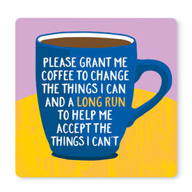 """Running 12"""" X 12"""" Removable Wall Tile - Please Grant Me Coffee"""