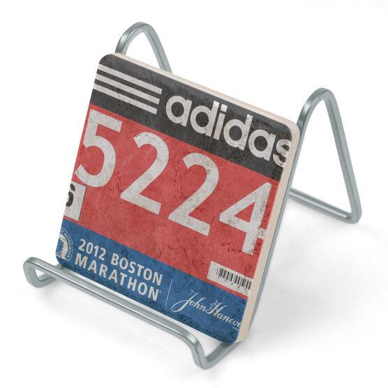 Your Race Bib on Your Coaster BibCOASTERS - Stone Coaster