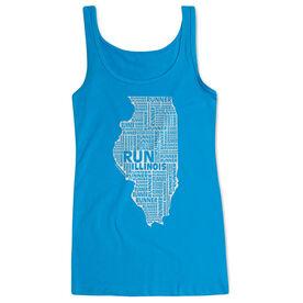 Women's Athletic Tank Top Illinois State Runner