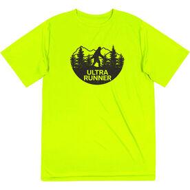 Men's Running Short Sleeve Performance Tee - Ultra Runner Bigfoot