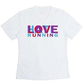 Women's Short Sleeve Tech Tee - Love Hate Running