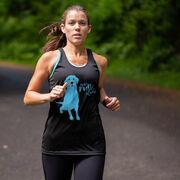Women's Racerback Performance Tank Top - Never Run Alone