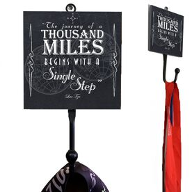 Medal Hook Chalkboard The Journey Of A Thousand Miles