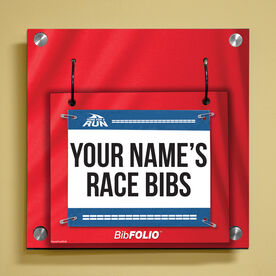 Personalized My Race Bibs Wall BibFOLIO® Display