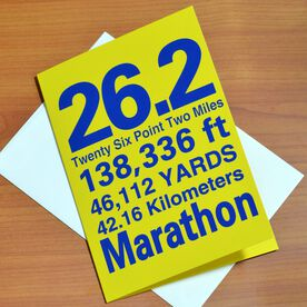 26.2 Marathon You Did It Greeting Card