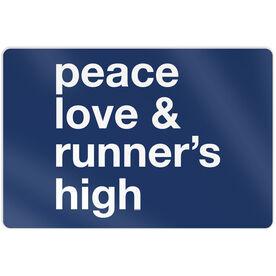 """Running 18"""" X 12"""" Wall Art - Peace Love & Runner's High"""