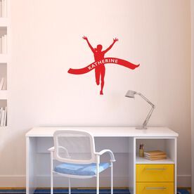 Running Wall Decal Personalized Finish Line Female