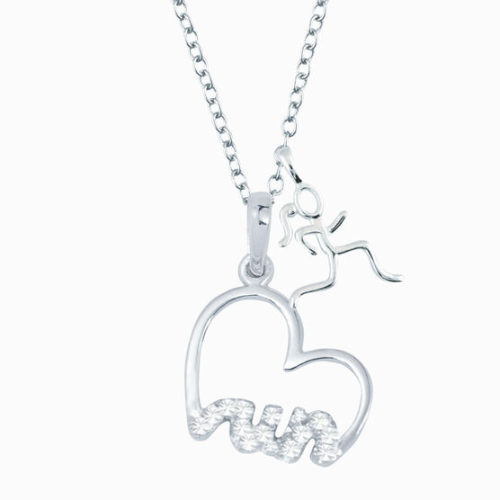 Livia Collection Sterling Silver Heartfelt Run Necklace