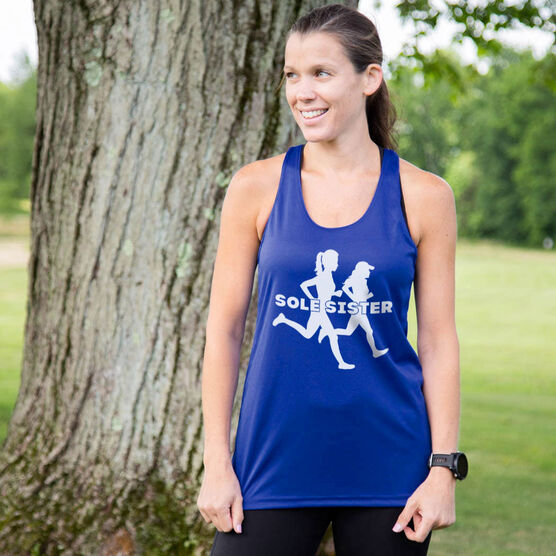 Women's Racerback Performance Tank Top - Sole Sister Silhouettes