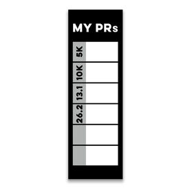 "Running 12.5"" X 4"" Removable Wall Tile - My PRs Dry-Erase (Vertical)"
