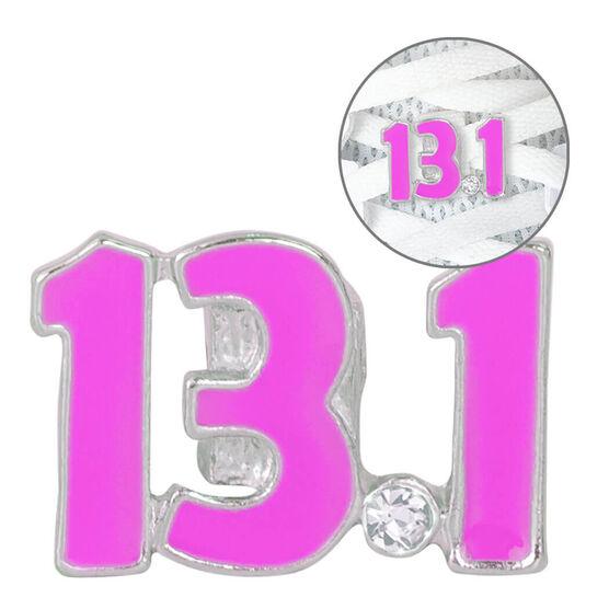 LaceBLING Shoelace Charm - 13.1 Half Marathon (Pink)