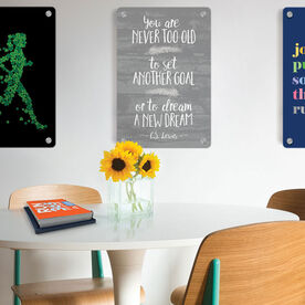 """Running 18"""" X 12"""" Wall Art - You Are Never Too Old"""