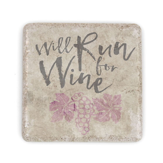 Running Stone Coaster Will Run For Wine