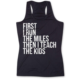 Women's Performance Tank Top - Then I Teach The Kids
